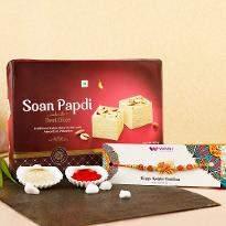 Rakhi with Tempting Soan Papdi