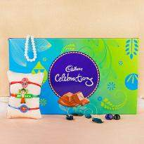 Beautiful Rakhis with Yummy Treat