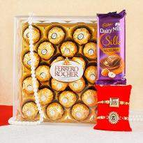 Rakhi with sweetness of ferrero