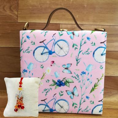 Buy Cycle Printed Handbag