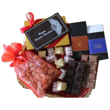 Buy Mini Chocolate Gift Hamper with Rakhi