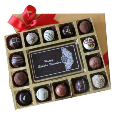 Buy Happy Raksha Bandhan with Belgian Truffles