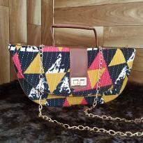Geometrical Design Sling Bag