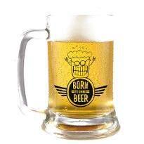 Born to Booze Beer Mug