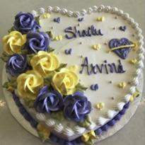 Eggless Heart Shape 1 Kg Vanilla cake