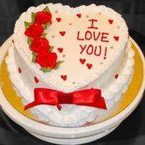 Eggless Valentine Heart Cake