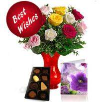 Fresh Roses with chocolate