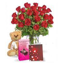 Special Two Dozen Red Roses Combo