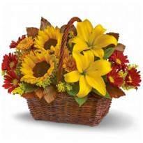 Golden Flowers Basket
