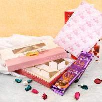 Kaju Katli with cadbury treats