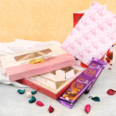 Buy Kaju Katli with cadbury treats