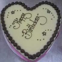 Heart Shape Boston Mud Cake