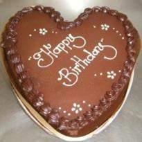 1 Kg Chocolate Heart shape cake
