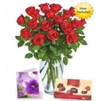 18 Red roses n chocolate