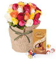 30 Mix Roses with Chocolate