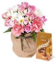 Pink Flowers with Chocolate
