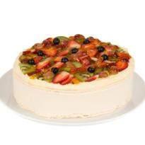 White Fresh Fruit Cake