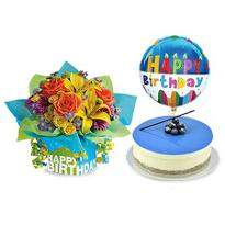 Mix Flowers and Birthday Wishes