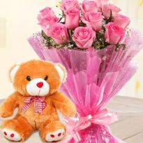 Flower with Teddy Combo
