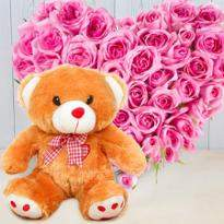 Cute Teddy and Pink Heart