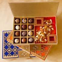 Belgian Pralines and Dry Fruits Diwali Designer box