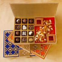 Luxury Chocolate Truffles and Dry Fruits Diwali Designer box