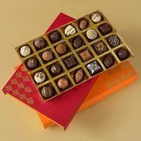 Assorted Chocolate Truffles Diwali Treat Box of 24