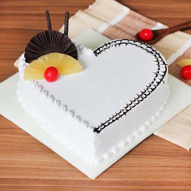 Buy Pineapple Valentines heart cake