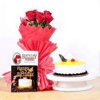 Cake and Roses Hamper