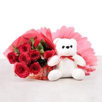 Roses and Teddy Combo