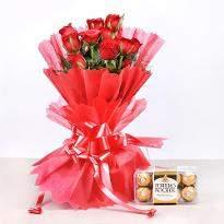 Red Roses & Ferrero Combo