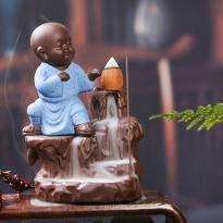 Incense Flow Monk Statue