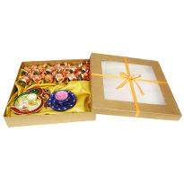 Large Box Diya And Chocolate Hamper