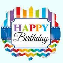 Rainbow Birthday Balloon