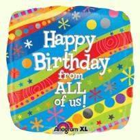 Multicolor Birthday Balloon
