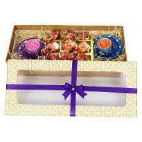 ALong Box Diya And Chocolate Hamper