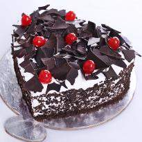 Order Heart Shape Black Forest Cake online