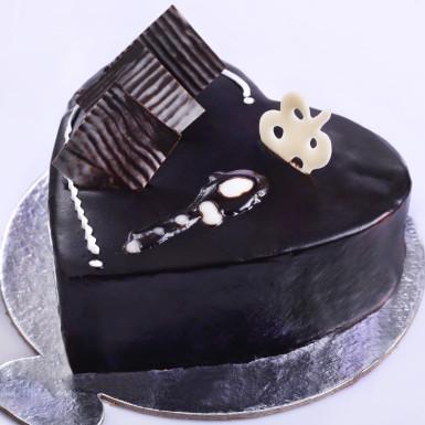 Buy Chocolate Truffle Heart shape cake