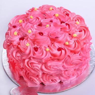 Buy Romantic Pink Blush Strawberry Cake