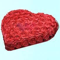 Strawberry Red Rose Cake