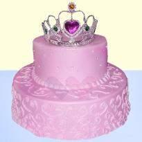 Strawberry princess 2 tier cake