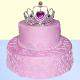 Buy Strawberry princess 2 tier cake