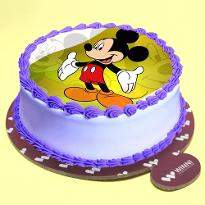 Mickey Mouse Pineapple Photo Cake