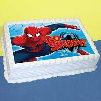 Spiderman Vanilla Photo Cake