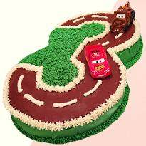 Number Racing Track Shape Cake