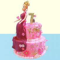 Glamours Barbie Cake