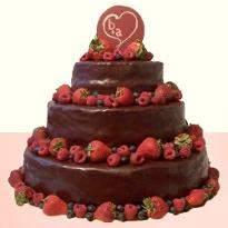 Classy Choco Strawberry  cake