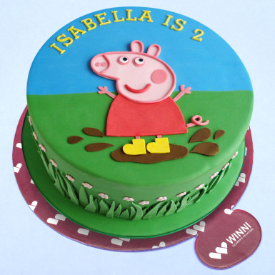 Buy Peppa Pig Fondant Cake