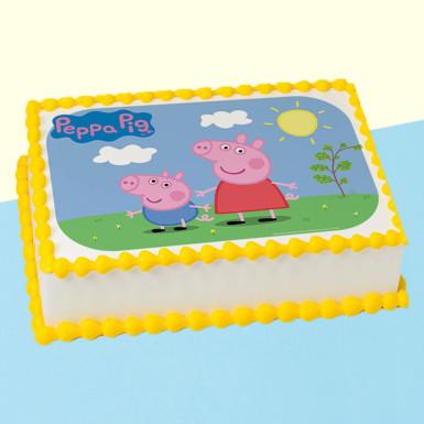 Buy Peppa Pig Photo Cake