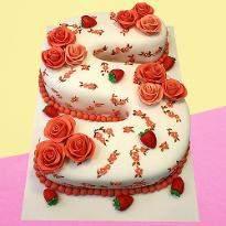 Letter S strawberry Cake